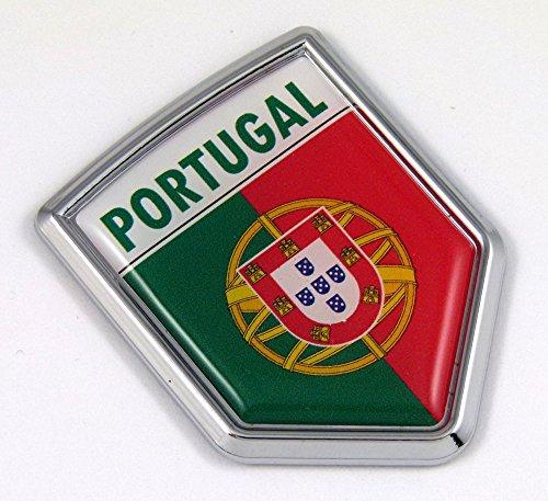 Portugal Portuguese Flag Car Chrome Emblem 3D Decal (Portuguese Flag Decal compare prices)
