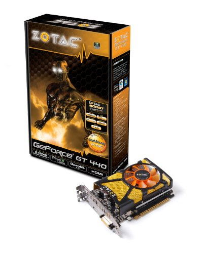ZOTAC nVidia GeForce GT440 512 MB DDR5 DVI/HDMI/Displayport PCI-Express Video Card