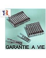 12 PINCES A LINGES EN INOX GARANTIE A VIE Fabrication Française