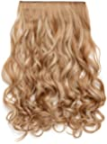 """OneDor® 20"""" Curly 3/4 Full Head Synthetic Hair Extensions Clip On/in Hairpieces 5 Clips 140g"""