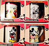Disney Mickey Mouse Ceramic Mugs (4 Classical Collectible Mugs)