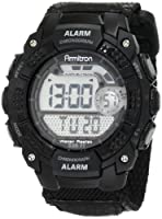 Armitron Men's 408236BLK Chronograph Black Resin Digital Sport Watch from Armitron