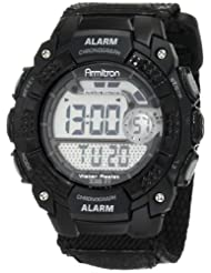 Armitron 408236BLK Chronograph Black Digital