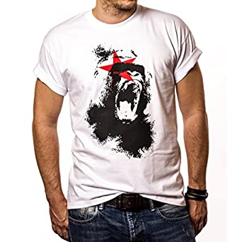 Cool gorilla t-shirt for men MONKEY white size S