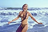 "Princess Leia ""Slave Outfit"" Carrie Fisher on the beach Poster 24x36 inches"
