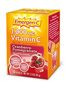 Emergen-C Cranberry PomegraN/Ate, 10-count