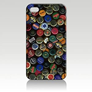 Cool design beer bottle cap collection beer logos iPhone 4/4s case at amazon