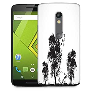 Snoogg Vector Grunge Background With Trees Designer Protective Phone Back Case Cover For Motorola Moto X Play