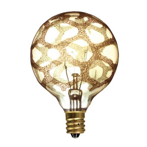 Bulbrite-25G16MARE12-Crystal-Collection-25-watt-Incandescent-G16-Globe-Marble-Finish-Candelabra-Base-Amber