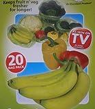 STAY FRESH FRUIT N VEG BAGS VEGETABLES 20 BAGS FRESHER
