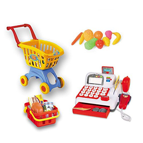 Supermarket-Cash-Register-and-Shopping-Cart-with-Grocery-Food-Toy-Playset-for-Kids