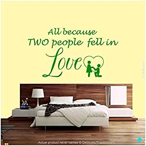 DeStudio In Love Wall Decal, Size XXL & Color GREEN
