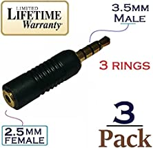 buy Josi Minea X 3 Pcs 3.5Mm Male To 2.5Mm Female Audio Adapter Converter Headphone Headset 3 Ring Jack - Stereo Or Mono For Apple Iphone Ipad Samsung Galaxy Phones & Most Smartphones & Tablets [3 Pack]