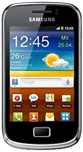 Samsung Galaxy mini 2 S6500 Smartphone (8,31 cm (3,27 Zoll) TFT-Touchscreen, 3,0 Megapixel Kamera, Android 2.3) modern-black