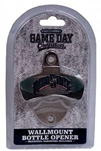 Buy NCAA Ohio State Buckeyes Bottle Opener Metal Retro Wall Mount, Small, Metallic with Team Color by Game Day Outfitters
