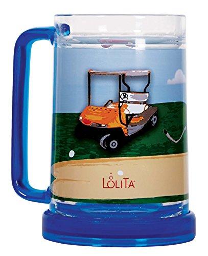 C.R. Gibson Lolita 16-Ounce Acrylic Freezer Mug, 19Th Hole front-106442