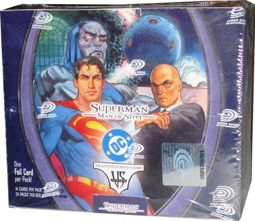 Imagen de Upper Deck SuperMan Man of Steel VS. Sistema 1st Edition Booster Box (24 paquetes por caja, 14 tarjetas por paquete con una tarjeta de lámina especial por paquete)