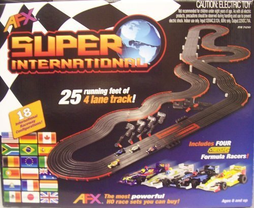 AFX 4-Lane Super International Race Set w/Mega G Cars