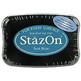 StazOn Ink Pads Tsukineko Multi-Surface Ink Pad, Teal Blue