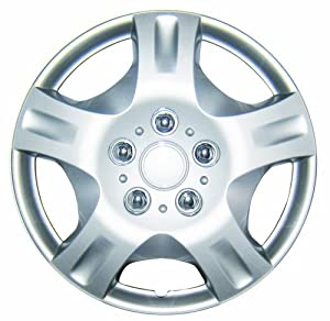 White Knight WK-942B, Nissan Altima, 14″ Chrome/Silver Plastic Wheel Cover, Set of 4