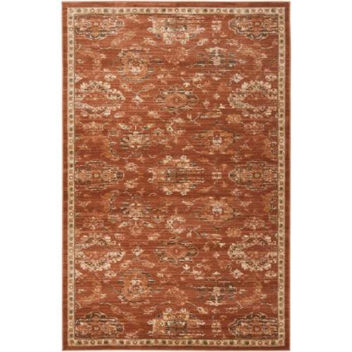 Safavieh Florenteen Collection FLR128-3412 Rust and Ivory Area Rug, 8 feet by 10 feet (8' x 10')
