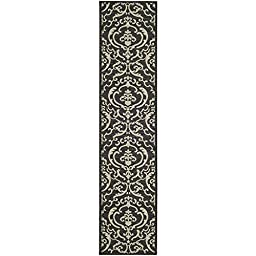 Safavieh Courtyard Collection CY2663-3908 Black and Sand Indoor/ Outdoor Runner, 2 feet 3 inches by 10 feet (2\'3\