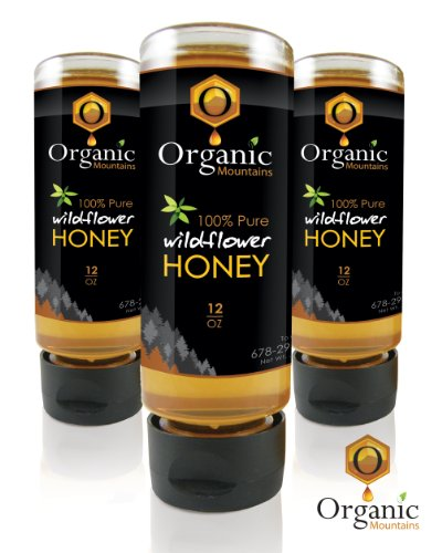 Organic Mountains 100% Pure Honey - Wildflower - 3 Pack