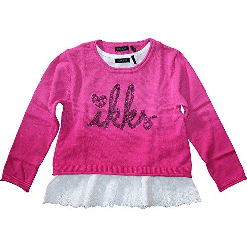 Ikks-Pull, 2 in 1, da ragazza, colore: rosa lampone Ikks rosa 6 anni