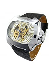 Youyoupifa Black And Elliptic Stainless Steel Strap Men's Watch