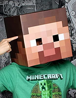Minecraft Steve Head Mask Adult by Jinx