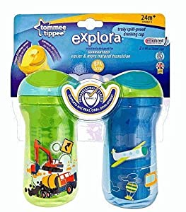 Tommee Tippee 2-Pack Explora Truly Spill Proof Drinking Cup 9oz - 24 Months **Transportation**