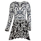 Women's Softest Scroll V-Neck Sweater Tunic Top