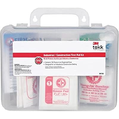 3M Tekk 94118-80025T Protection Construction/Industrial First Aid Kits, 118-Piece from 3M CHIMD