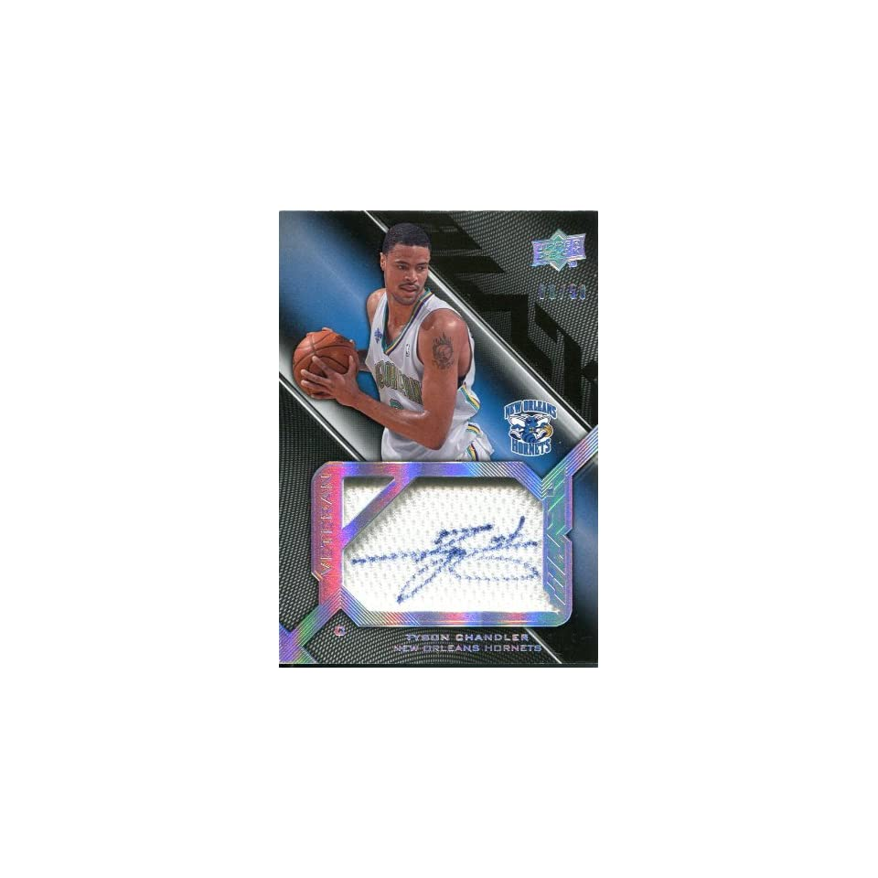 Tyson Chandler Autographed Jersey   2009 Upper Deck Card   Autographed NBA Jerseys