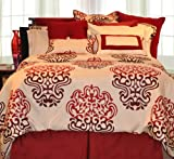 Pointehaven 12-Piece 100-Percent Cotton Luxury Bedding Ensemble, Cherry Blo ....