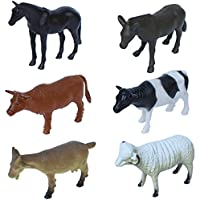 Toyzstation Animals Plastic Toy Set - Pack Of 6 - 1C187 - Educational & Decorative Toys For Kids