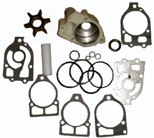 Water Pump Kit with Housing for Mercruiser Alpha and Mercury V6 replaces 46-96148T8