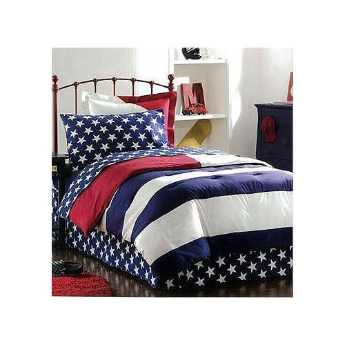 American Flag Twin Bedding Set