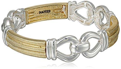 "Napier ""Gold Rush"" Two-Tone Link Stretch Bracelet"
