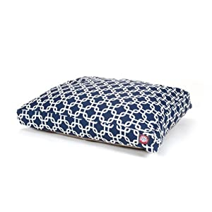 Majestic Pet Navy Blue Links Rectangle Pet Bed, Small