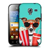 Head Case Designs Doggie At The Movies Funny Animals Protective Snap-on Hard Back Case Cover for Samsung Galaxy Ace 2 I8160