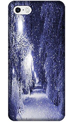 Phones Accessories Beautiful White Snow Tree Vellege Design Cases For Iphone 5/5S # 3