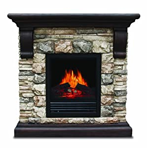 quality craft somp 2100 electric fireplace heater with 750