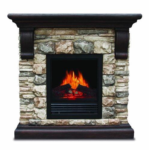 Sylvania Electric Fireplace Heater Adjustable Temperature