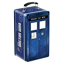 Doctor Who TARDIS Shaped Tin Tote Lunch Box Carrying Case