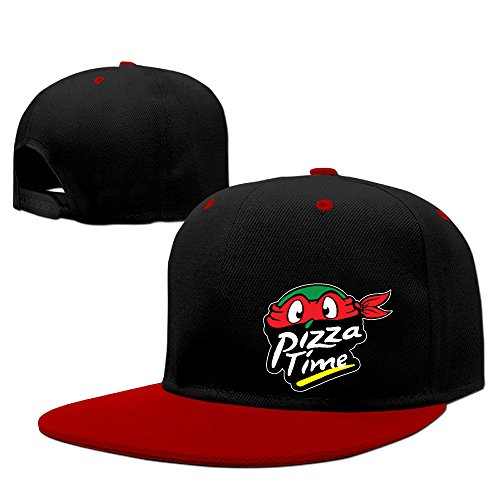 pizza-hut-ninja-turtles-time-flat-baseball-snapback-hip-hop-cap-men-women-red