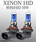 H10/ 9145 55W pair Fog Light Xenon HID Super White Replacement Bulbs