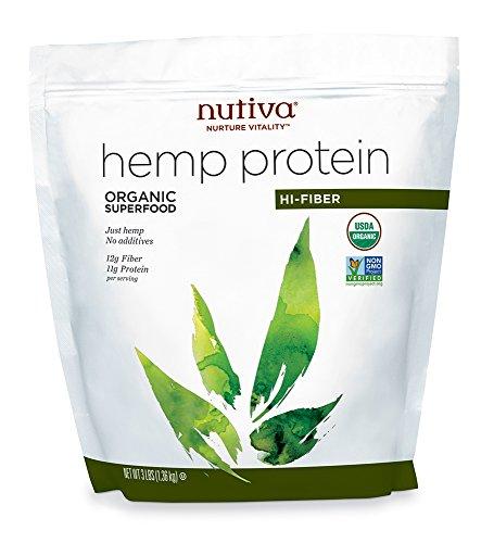 Nutiva Organic Hemp Protein Hi Fiber, 3 Pound Bag