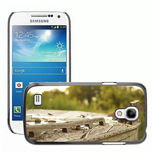 Carcasa Funda Prima Delgada SLIM Casa Case Bandera Cover Shell para // M00150040 Legno Broke Outdoor Vecchia Struttura // Samsung Galaxy S4 Mini i9190