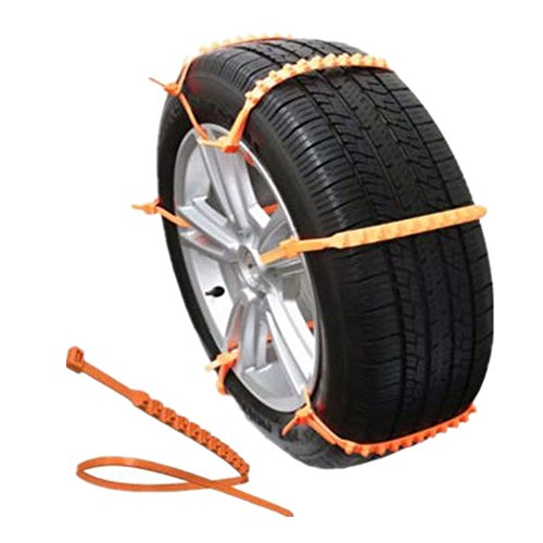 BaiFM Portable Emergency Traction Aid Anti-slip Chain Vehicle Snow Chains Ice & Snow Traction Cleats for Bad Weather (Tires Zip Ties compare prices)
